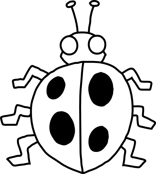 540x599 Bugs Clipart Black And White