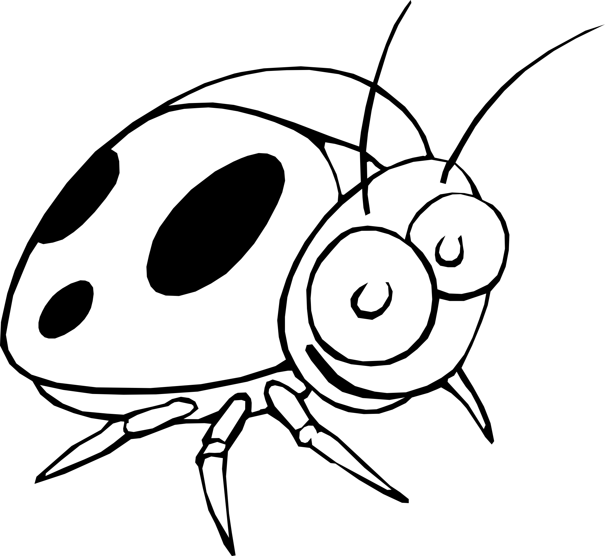 1979x1819 Insect Clipart Coloring Book