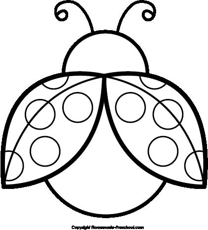421x465 Ladybug Clipart Black And White