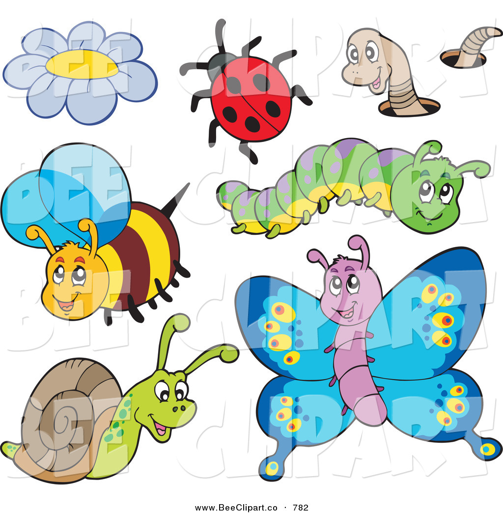 1024x1044 Cartoon Vector Clip Art Of A Digital Collage Of Cute Insects