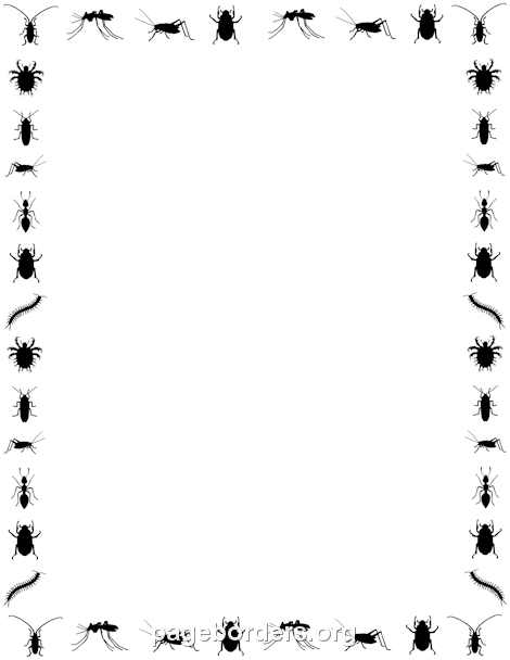 470x608 Insect Border Clip Art, Page Border, And Vector Graphics