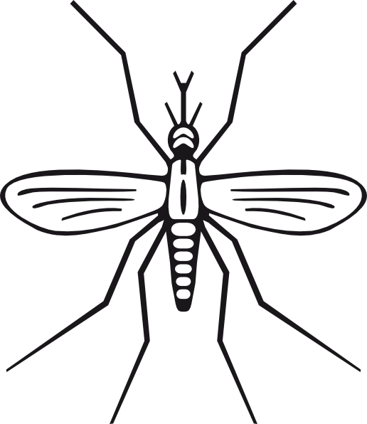 516x596 Mosquito Clipart Black And White