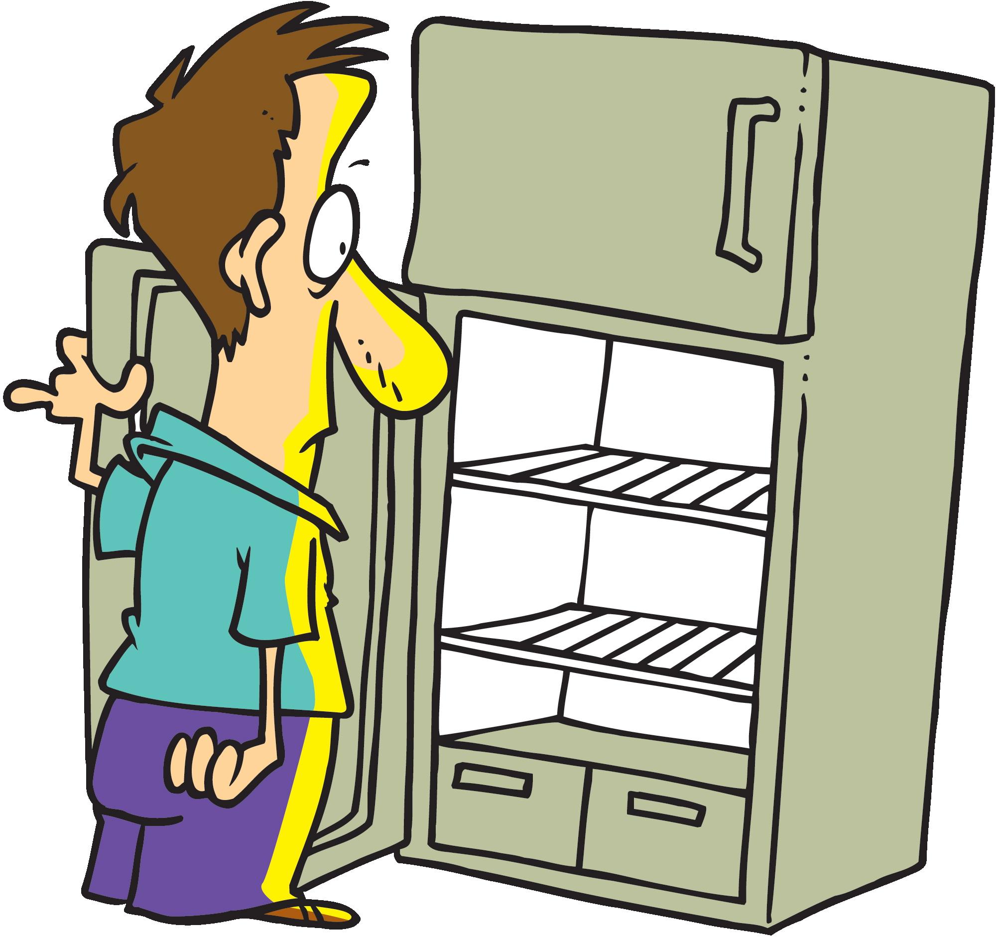 2000x1883 Empty Refrigerator Clipart