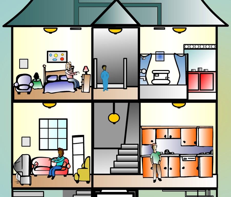 902x768 House Clipart Inside House