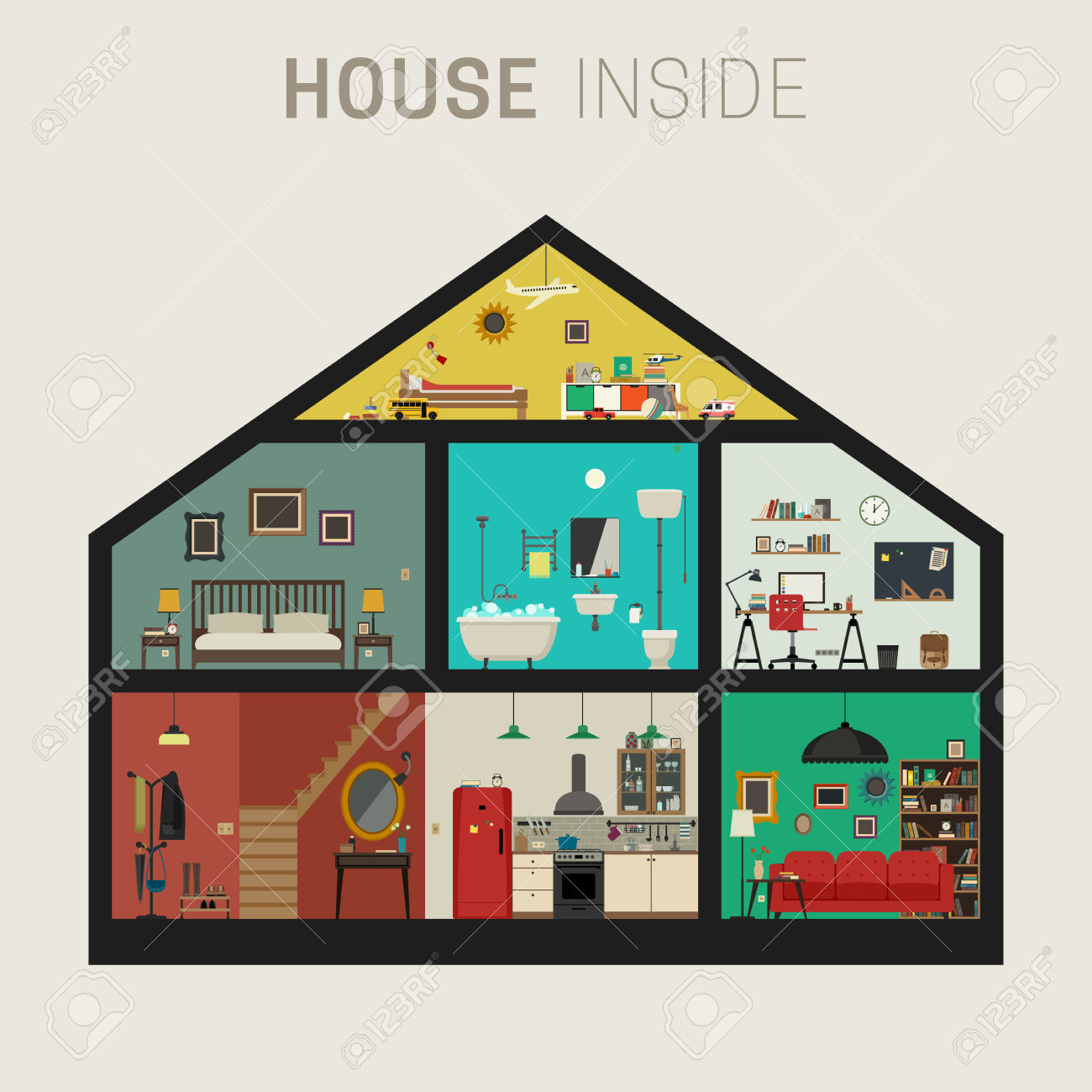 1300x1300 Inside Clipart House Interior