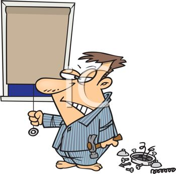 350x345 Cartoon Of Man Insomnia Breaking Hislarm Clock