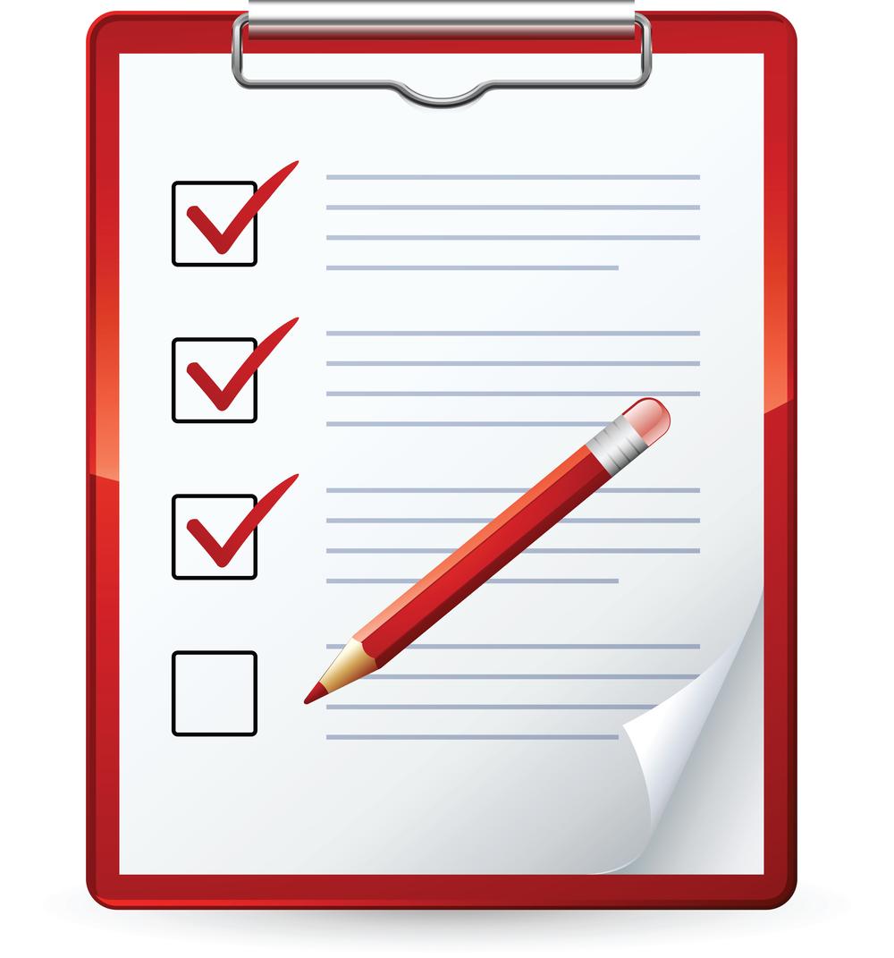 1000x1071 Check List Clip Art