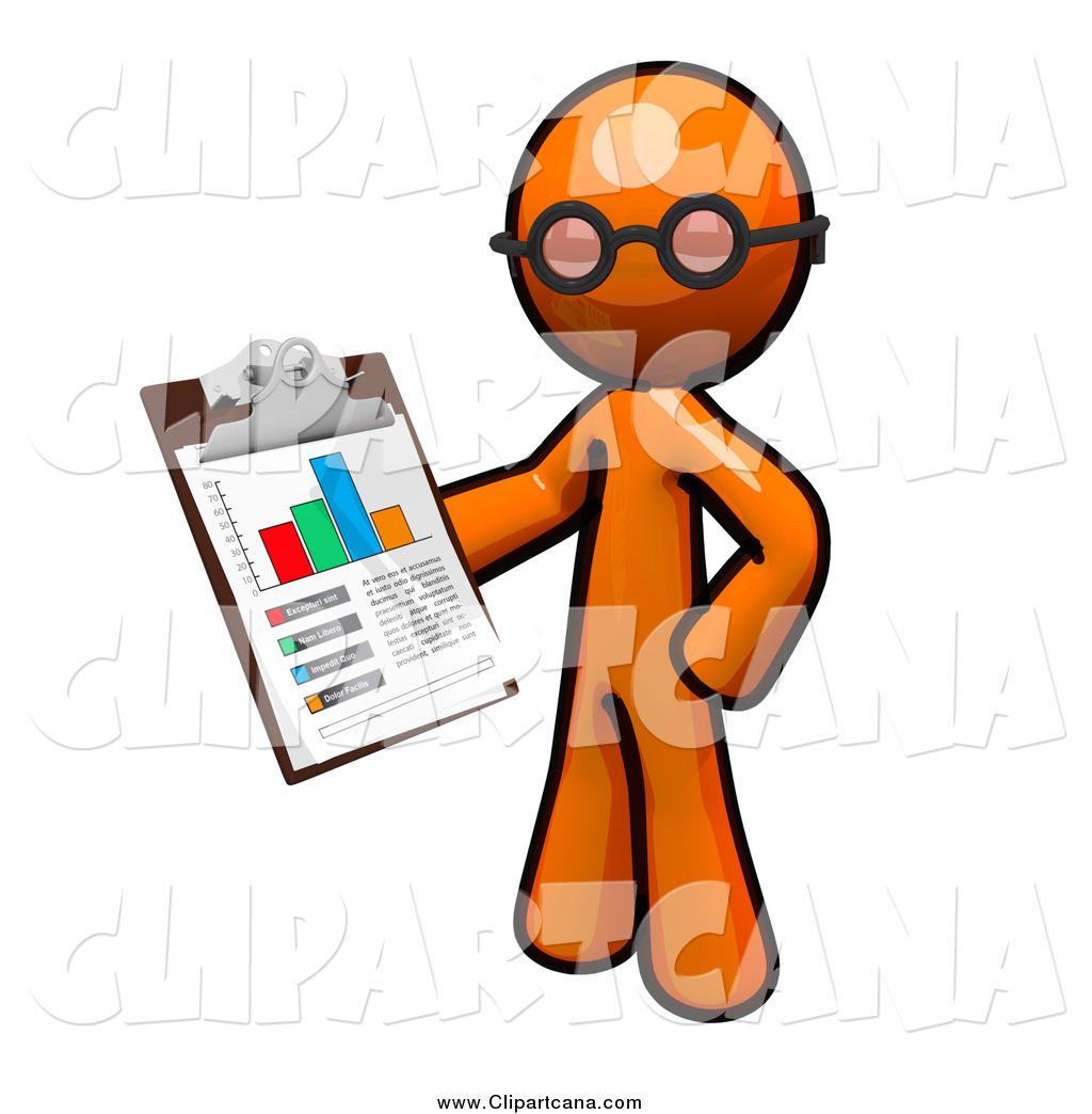1024x1044 Clip Art Of An Inspector Orange Man Holding A Chart On A Clipboard