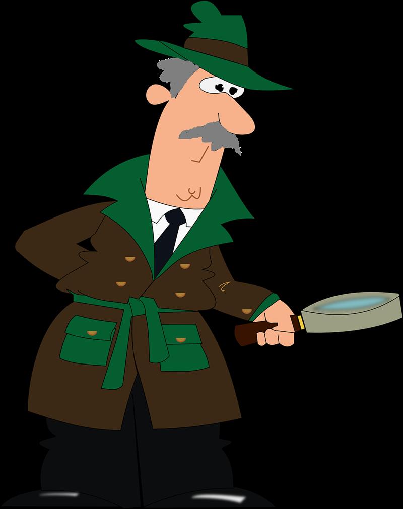800x1011 Cartoon Detective Clipart, Explore Pictures