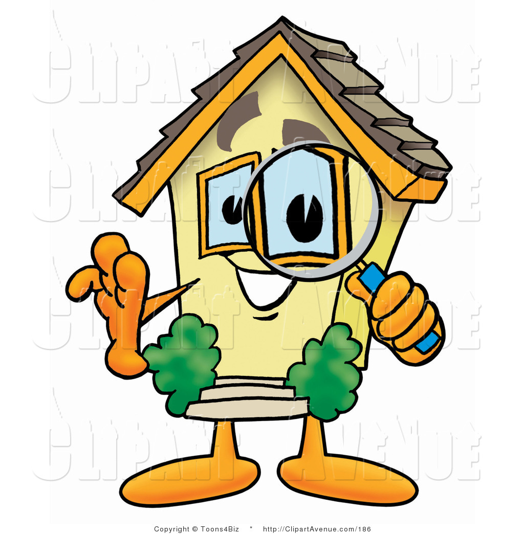 1024x1044 Avenue Clipart Of A Home Mascot Cartoon Character Looking Through