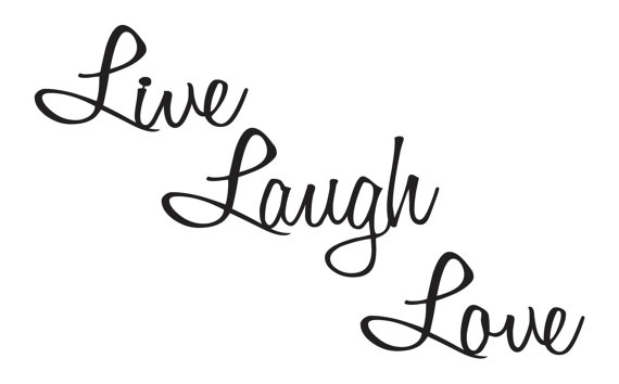 570x354 Live Laugh Love Quotes Metal Wall Art Wall By, Life Quotes Clip