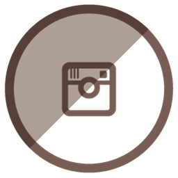 256x256 Instagram Icon Brown Clipart