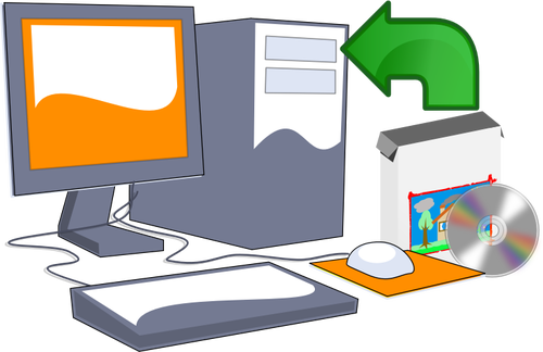 500x324 Install Computer Software Cd Vector Clip Art Public Domain Vectors
