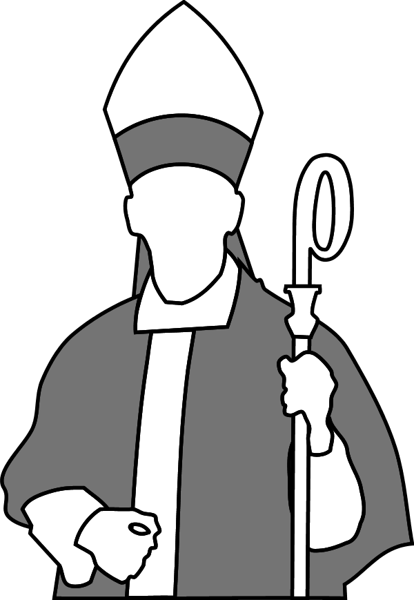 600x869 Installation Of Bishop Clip Art Cliparts