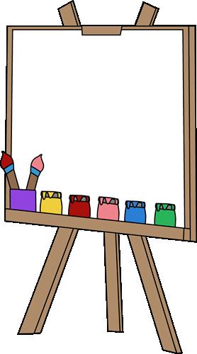 278x500 Blank Paint Easel Clip Art Image