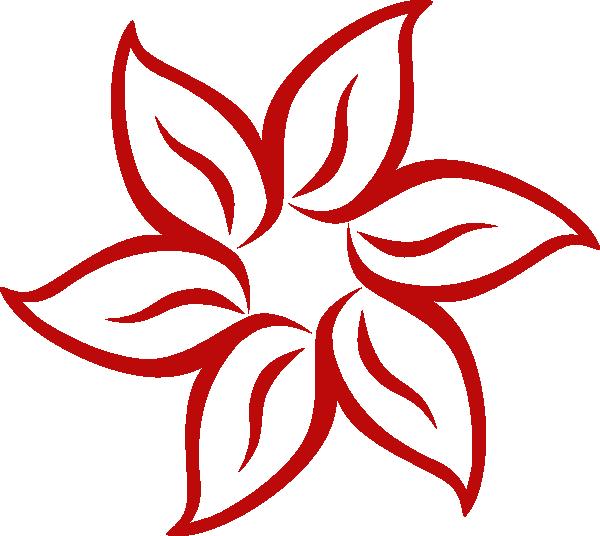 600x536 Red Flower Clip Art