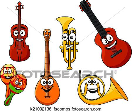 450x380 Clip Art Of Set Of Musical Instruments K21002136