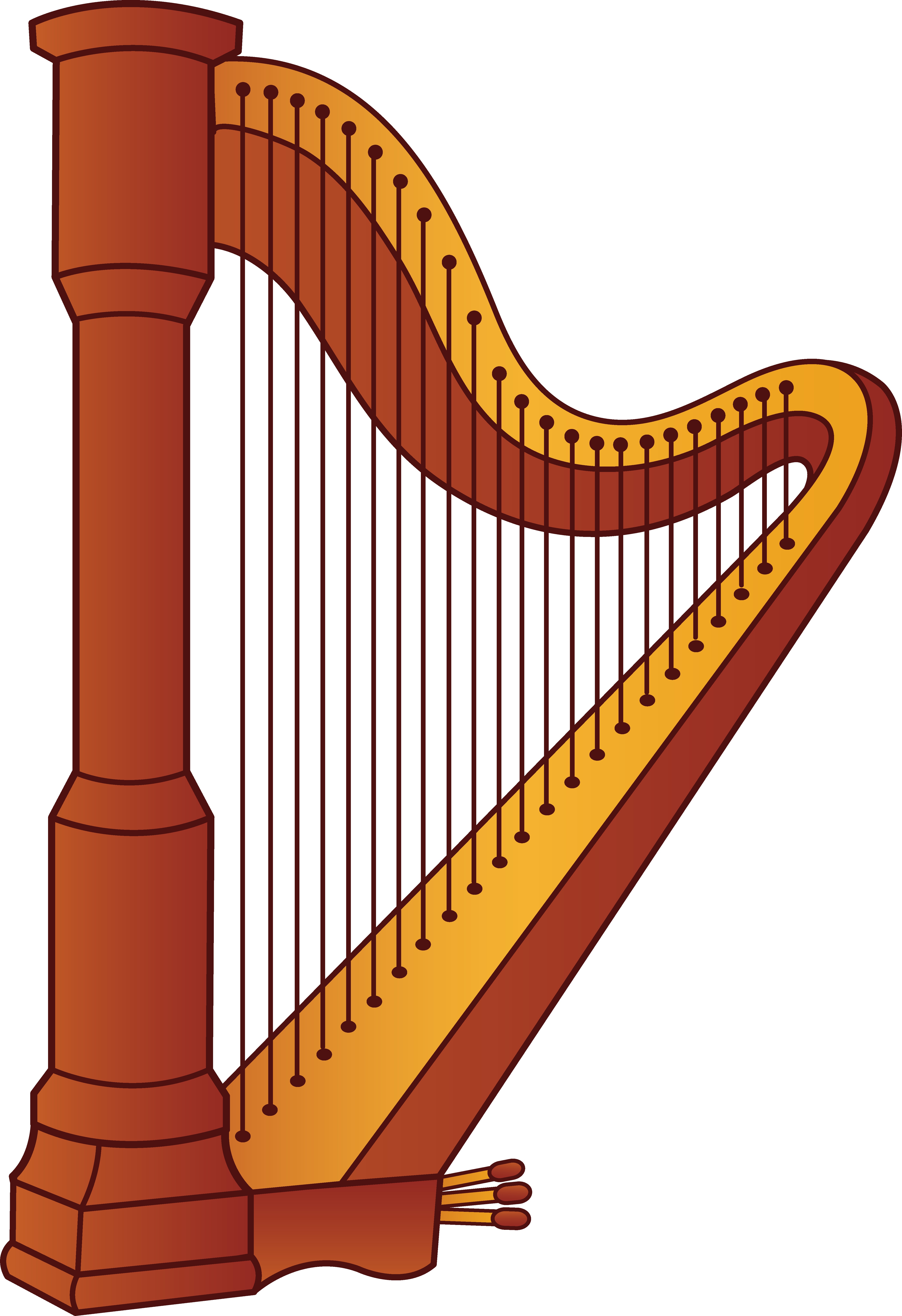 4805x7010 Harp Musical Instrument