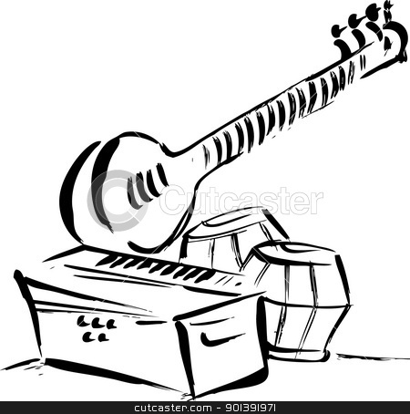 450x454 Instrument Clipart Drawing
