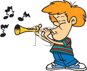 300x244 Art Image A Kid Playing The Clarinet