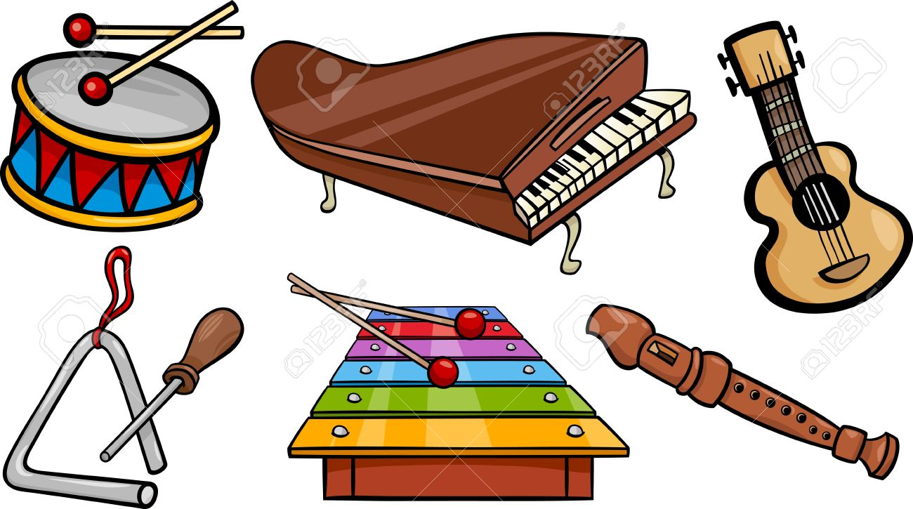 1300x725 Instrument Clipart Music Time
