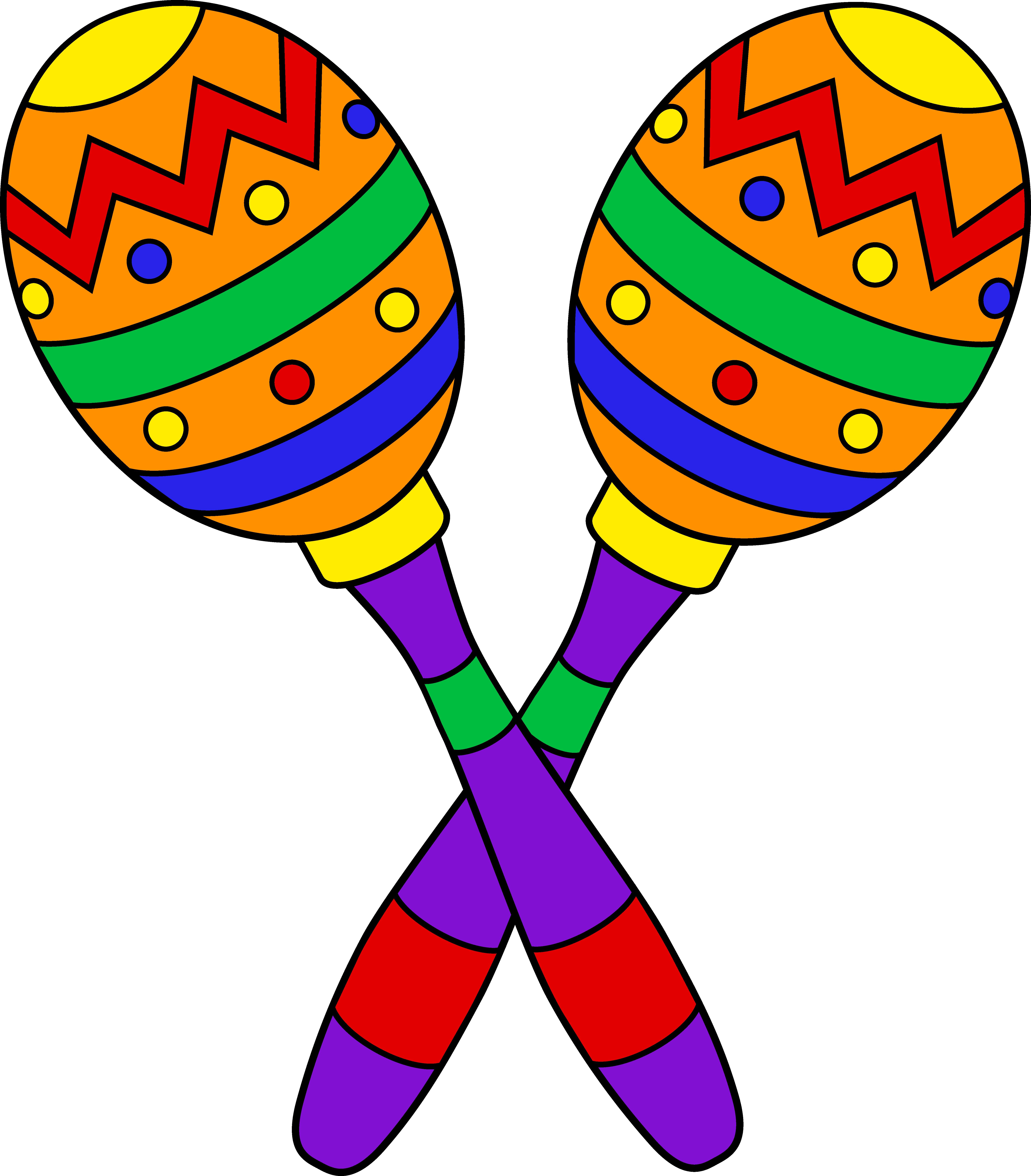 5910x6738 Pair Of Colorful Maracas