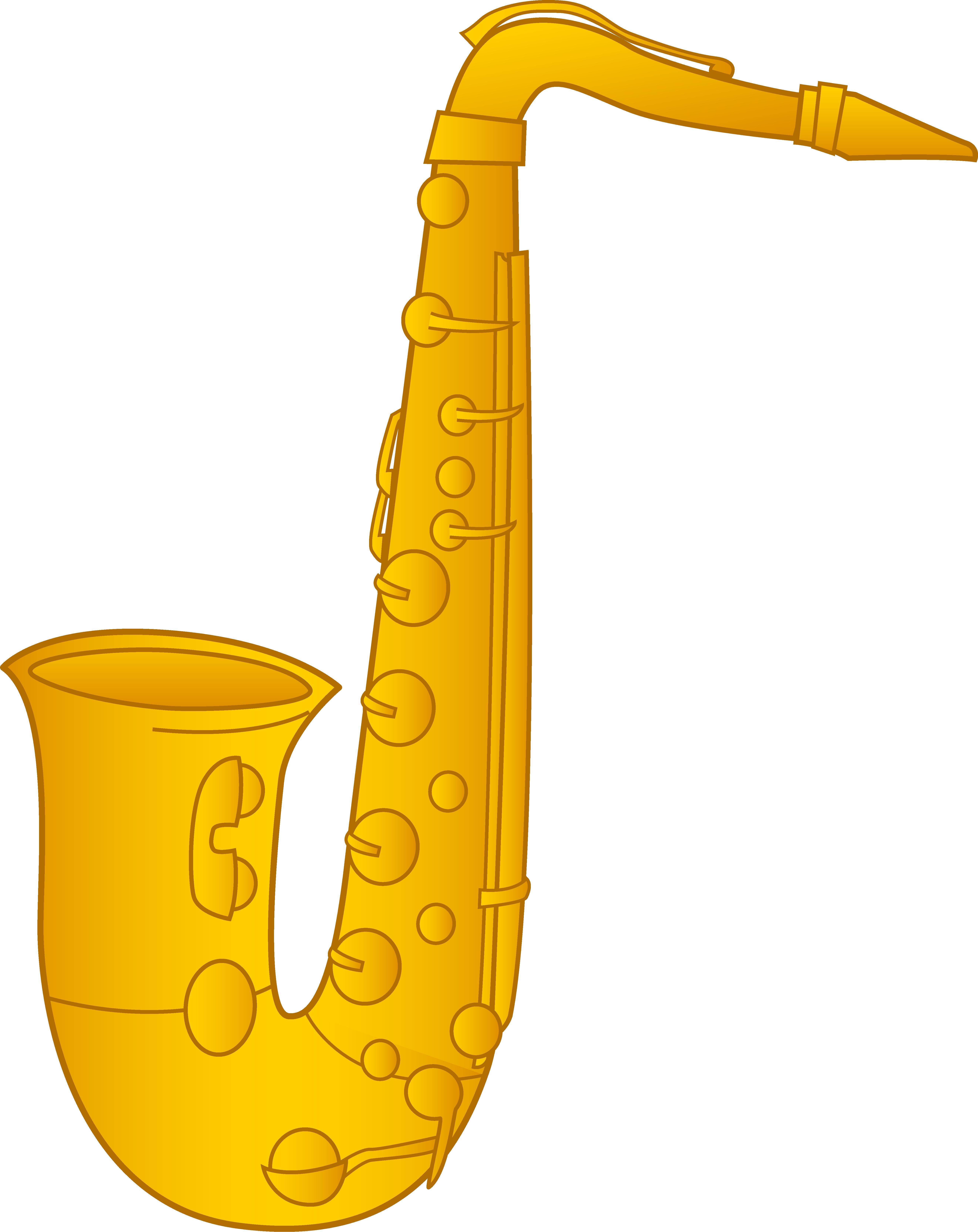 5286x6655 Saxophone Clip Art Design