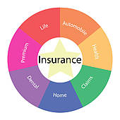 170x170 Clipart Of Insurance Word Concept Illustration K7839611