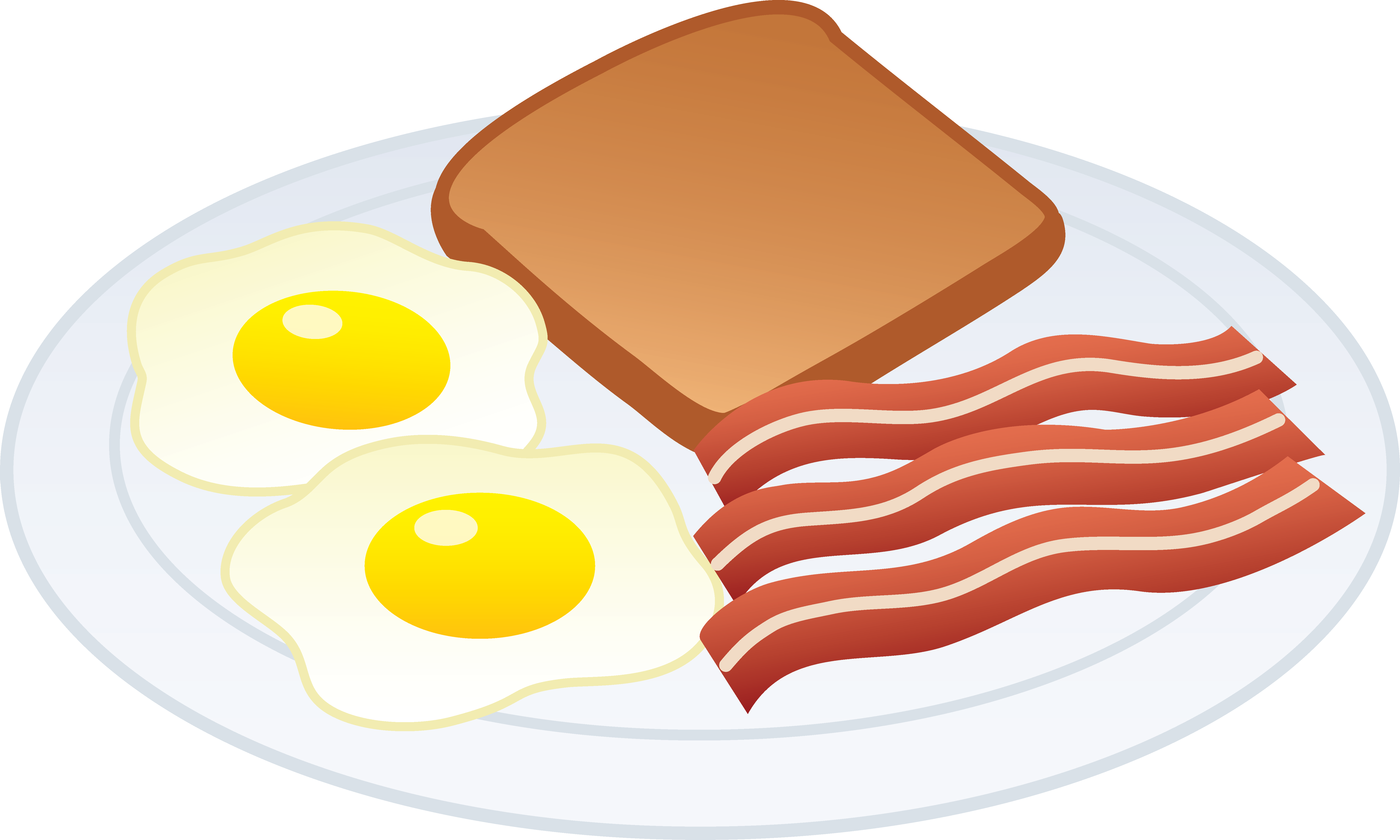 6494x3898 Clip Art Free Breakfast Of Eggs And Bacon Ssi Project