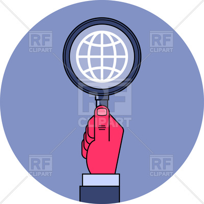 400x400 Hand With Magnifying Glass
