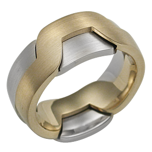 300x300 Modern Puzzle Wedding Ring