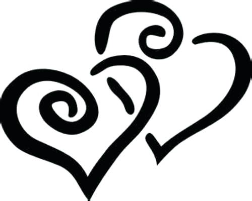 500x400 Clipart Heart Heart Black And White Heart Black And White Clip Art