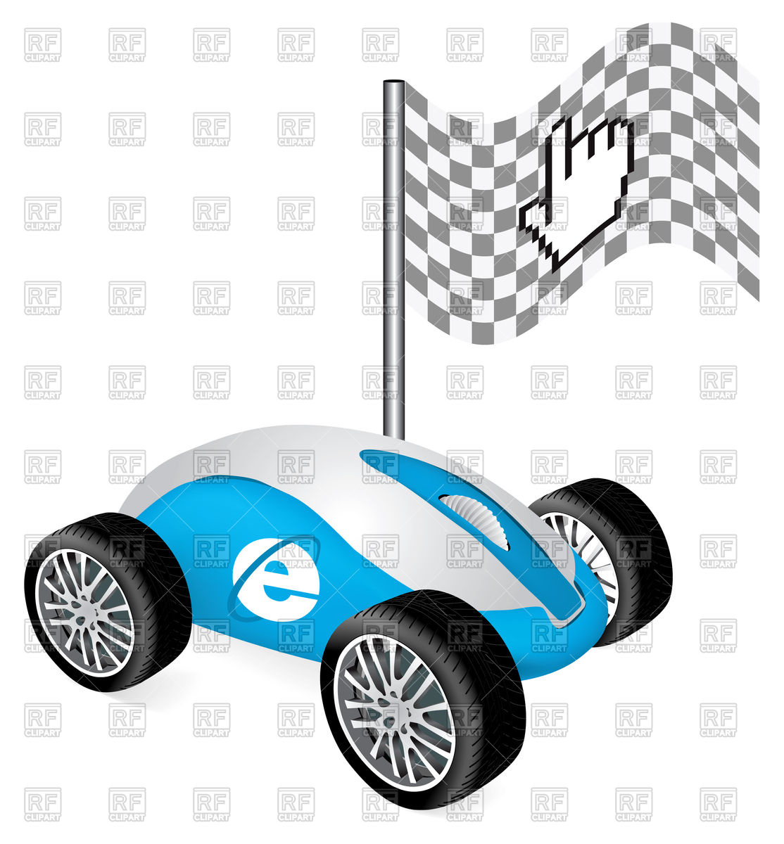 1114x1200 Hand Cursor On Car As Concept Of Fast Speed Internet Royalty Free