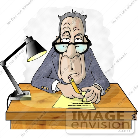 450x450 Old Manager Man Taking Notes During A Job Interview Clipart