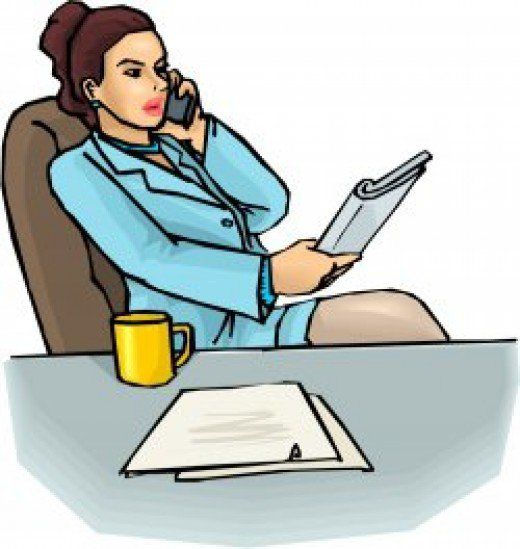 520x549 Telephonic Interview Clipart