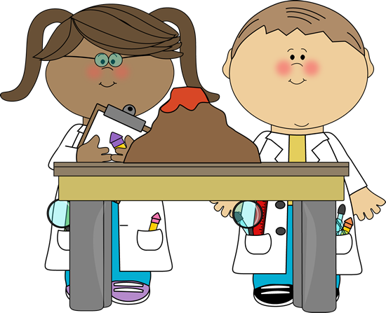 550x447 Kids With Volcano In Science Class Clip Art