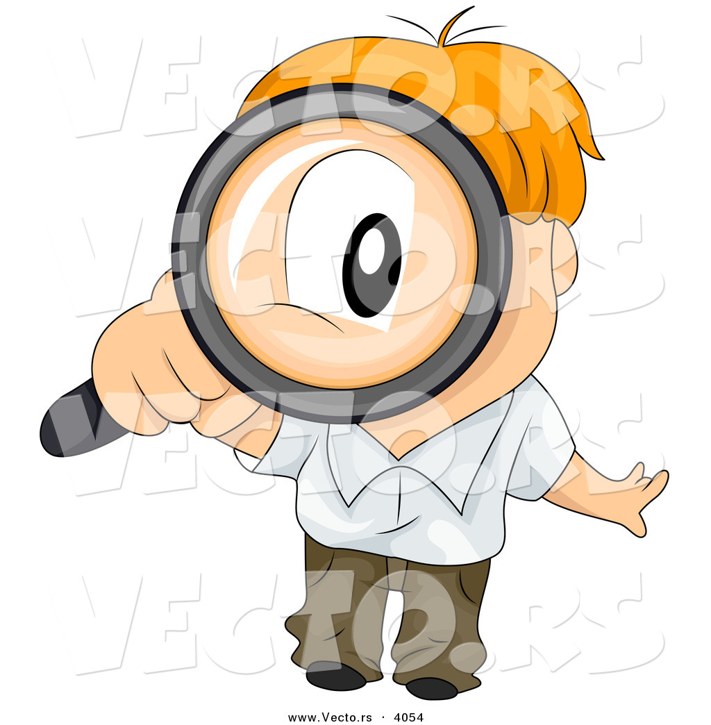 1024x1044 Vector Of Cartoon Boy Looking Through Magnifying Glass By Bnp