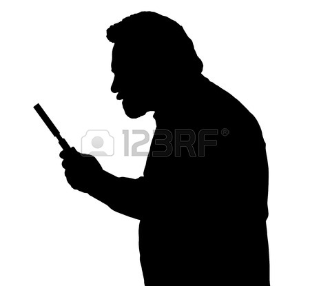 450x415 Silhouette Of A Bearded Man Investigating With A Magnifying Glass
