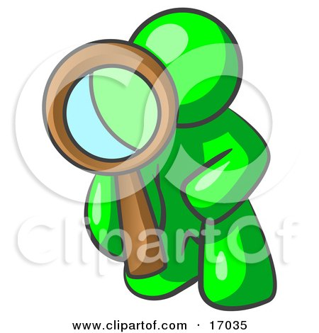 450x470 Clipart Mole Investigator Using A Magnifying Glass