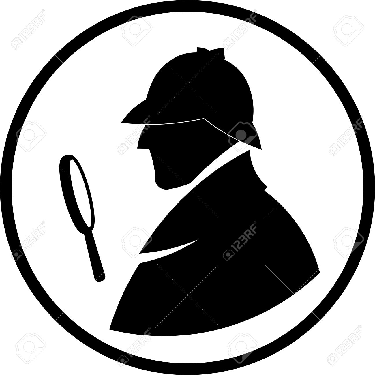 1300x1300 Detective Sherlock Holmes Vector Profile Icon Royalty Free