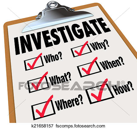 450x422 Picture Of Investigate Basic Facts Questions Check List
