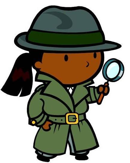 435x544 True Clipart Boy Detective