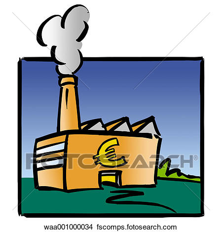 450x470 Drawings Of Factories, Finances, Investments, Invest, Symbols