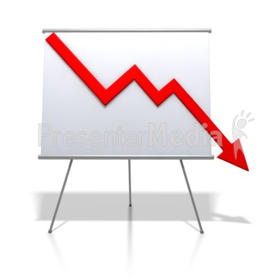 400x400 Graph Clipart Downward