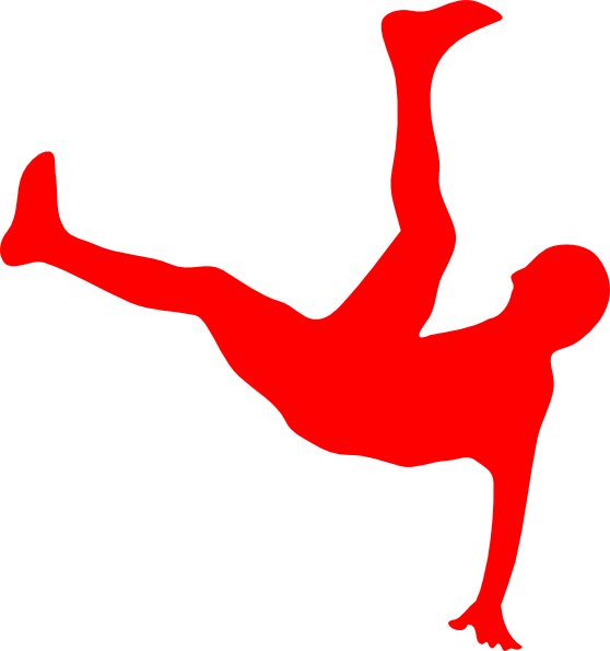 558x595 Red Man Falling Clip Art