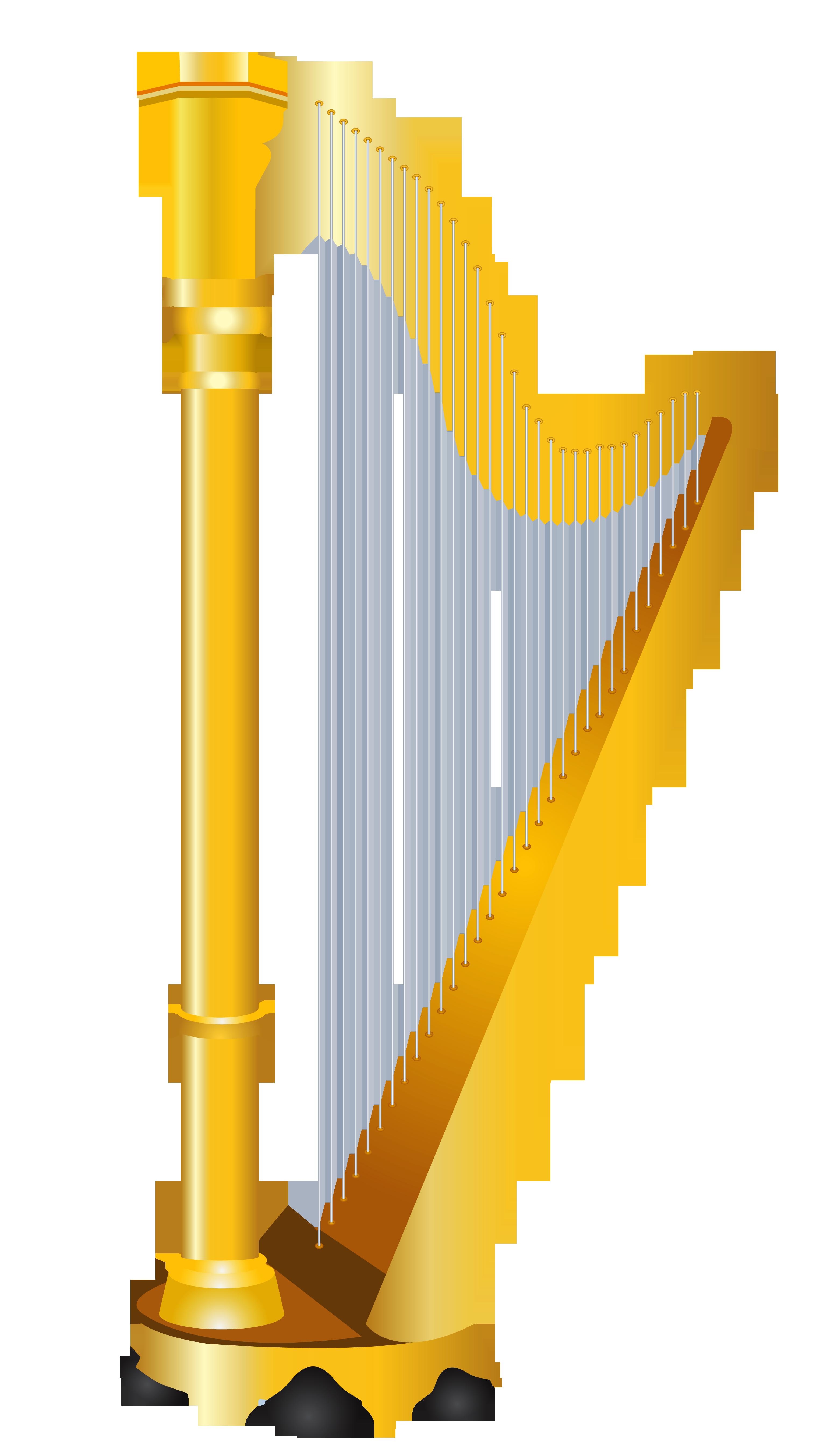 3048x5414 Golden Harp Clipart