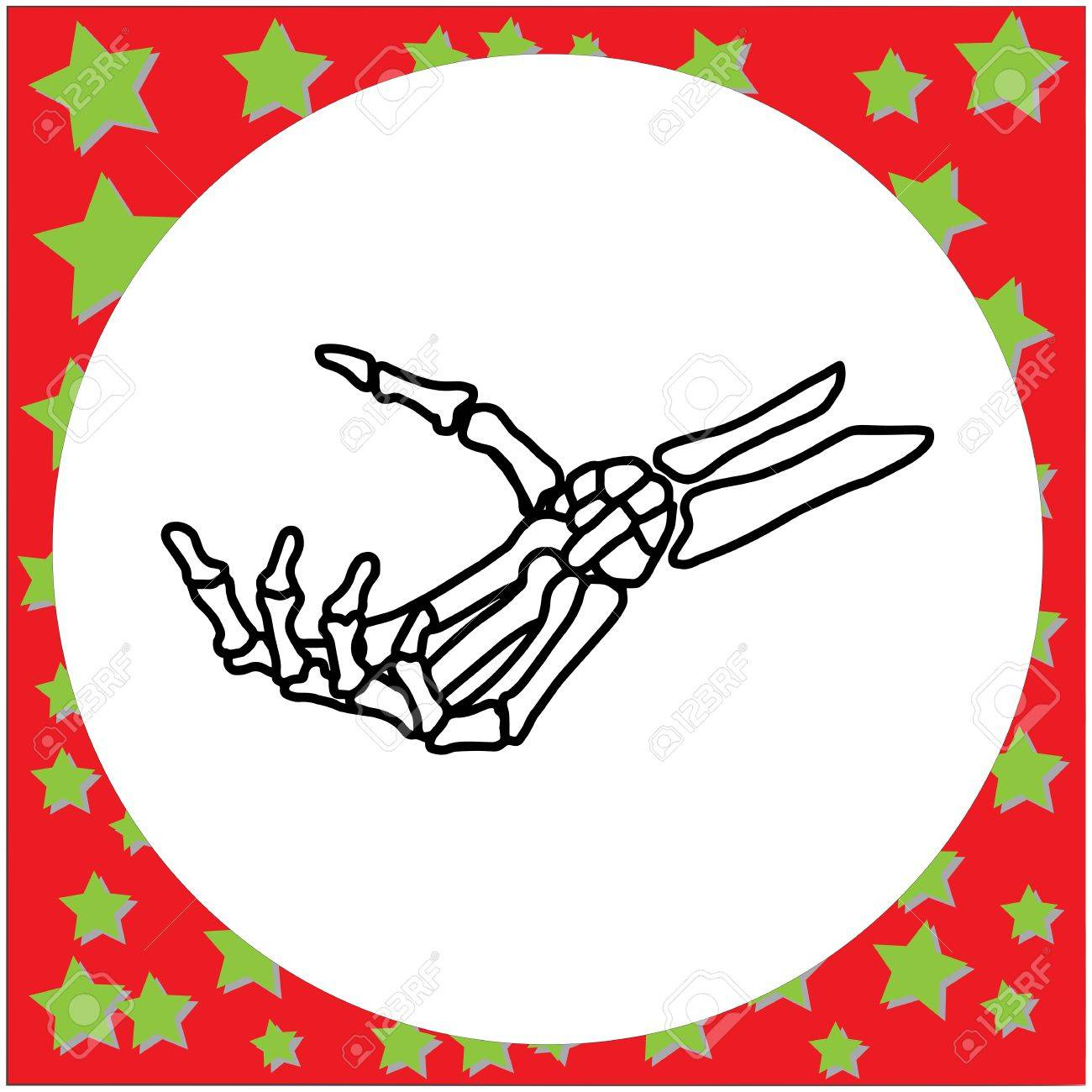 1300x1300 Hand Drawn Skeleton Hand Holding Invisible Card Vector