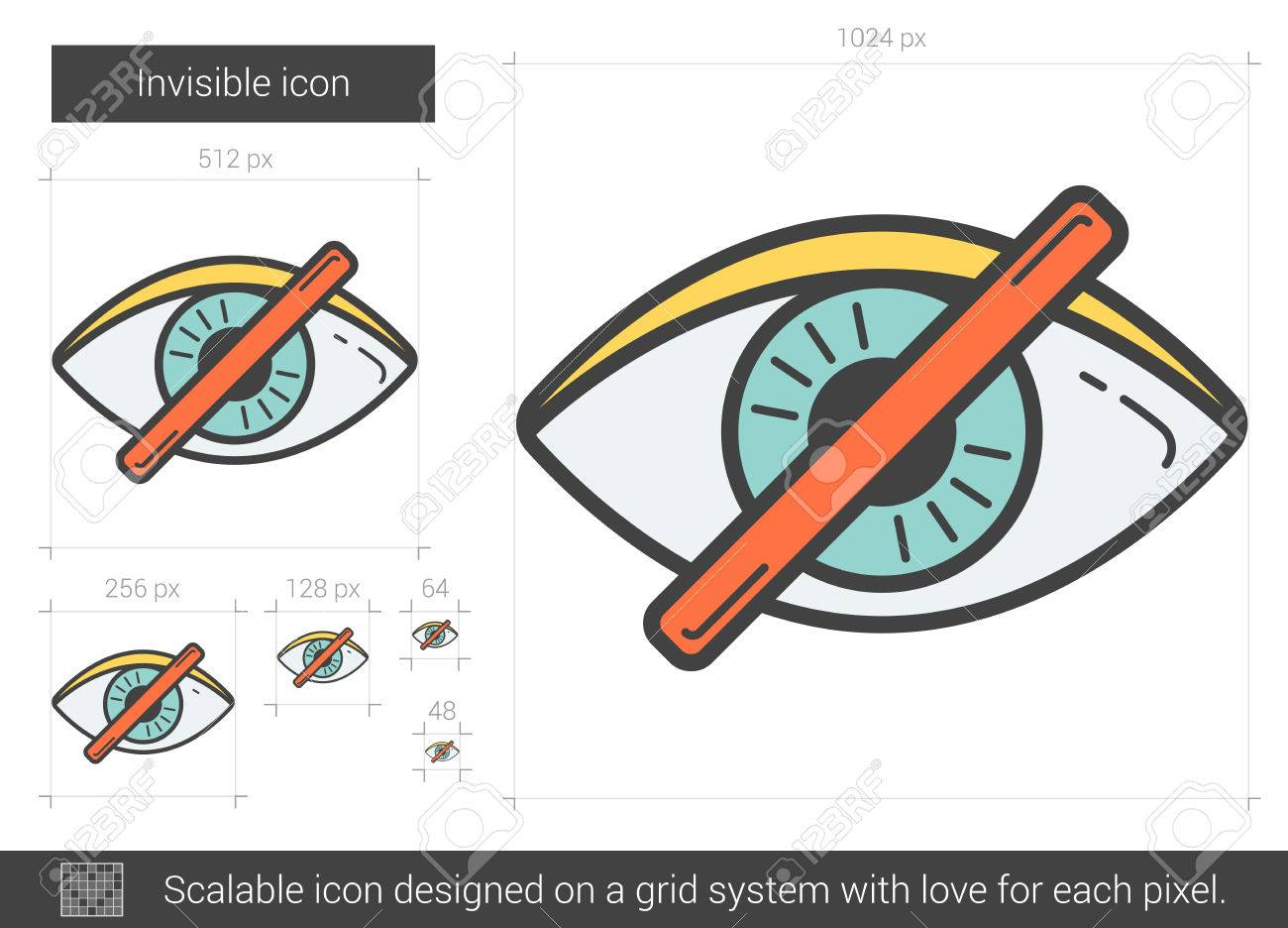 1300x936 Invisible Vector Line Icon Isolated On White Background. Invisible