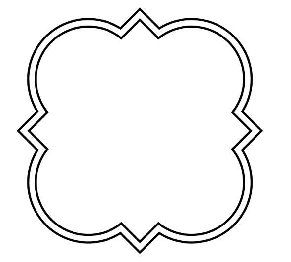 590x531 Shapes Clipart Quatrefoil