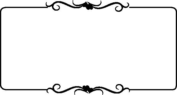 600x322 Black Wedding Vine2 Clip Art